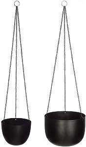 Atmosphera - Lot de 2 caches Pot métal à Suspendre