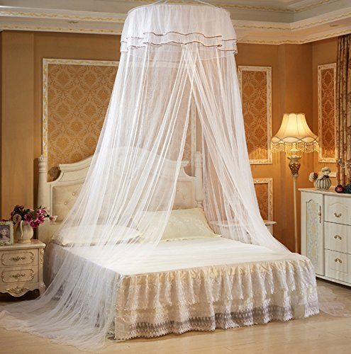 White Round Bed Canopy Mosquito Net