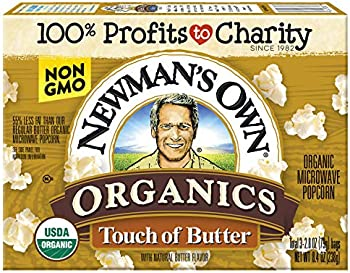 12-Pack Newman's Own Organics Microwave Popcorn Touch of Butter