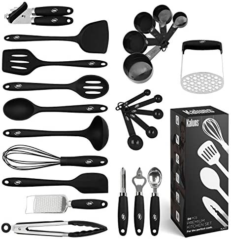 Kitchen Utensils Set 24 Silicone Cooking Utensils Non Stick and Heat Resistant Kitchen Tools product image