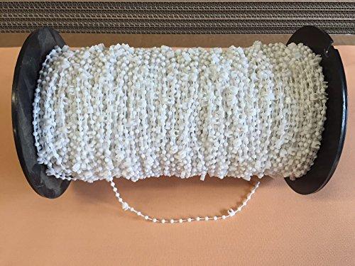 cg-sonnenschutz 40 Stück Clips mit Kette / Abstandskette / Verbindungskette für 127 mm Vertikaljalousie - Lamellen Vorhang Vorhang-Lamellen weiß aus Kunststoff