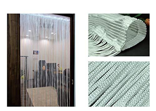 のれん 幅85cm×丈150cm ストリングカーテン ひもスクリーン ひも暖簾 スクリーンカーテン (ホワイトC<A タイプ>)