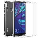 ivoler Coque pour Huawei Y7 2019 avec Pack de 3 Protection Écran en Verre Trempé, Transparent...