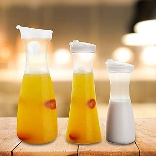 Winnfy Vatten Karaffar Akryl Dryck Pitcher Carafe Vatten Juice Pitcher Mjölk Flaskor Servera Kylskåp Kallt Te Med Lock För...