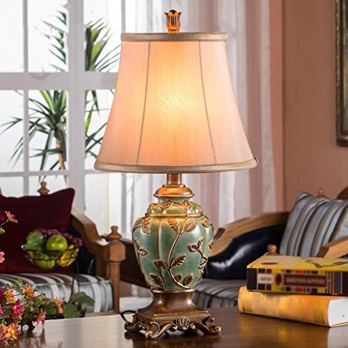 MTX Ltd Tischlampe Europäische Tischlampe Schlafzimmer Nachttischlampe Warm American Village...