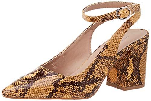 Zapatos amarillos con Tira de Tobillo para Mujer