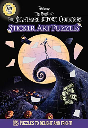 The Nightmare Before Christmas Sticker Art Puzzles
