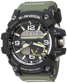 scheda casio men s g-shock gg1000-1a3 green rubber japanese quartz sport watch
