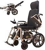 LLKK Mobility - Patinete eléctrico, sillas de ruedas plegables, silla de ruedas de cuatro ruedas automática inteligente potente y potente silla de ruedas