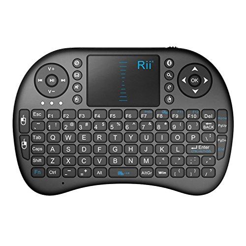 Rii i8 Mini Bluetooth Keyboard with Touchpad&QWERTY Keyboard,...
