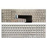 wangch Teclado de Ordenador portátil Estadounidense para Sony VAIO Fit SVF152C29M SVF152C29M SVF152C29L SVF15E Negro/Plateado/Blanco (Color : Silver)