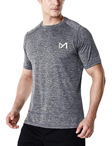 MEETYOO Camiseta Compresion Hombre, Manga Corta Camisetas Ropa Deportiva para Running Gym...