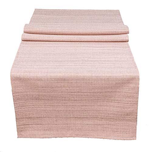 heimtexland ® Outdoor-Tischdecke Meliert Garten Deko Tischläufer 40x140 Rosa Typ645