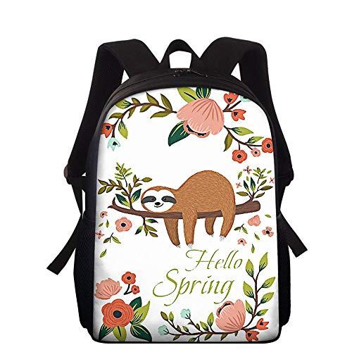 Backpack Escuela De Niños Mochila Bolsa De La Escuela De Los Niños Pereza Linda Mochila J-15 Inches