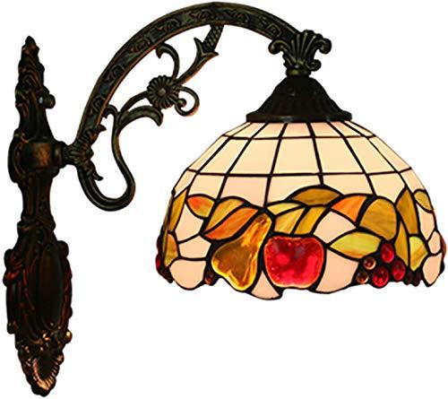 XUHRA Tiffany Pared del Estilo, Retro Europeo de Frutas de Color Corredor de Pared de la Iglesia Pared de Cristal de diseño Pub