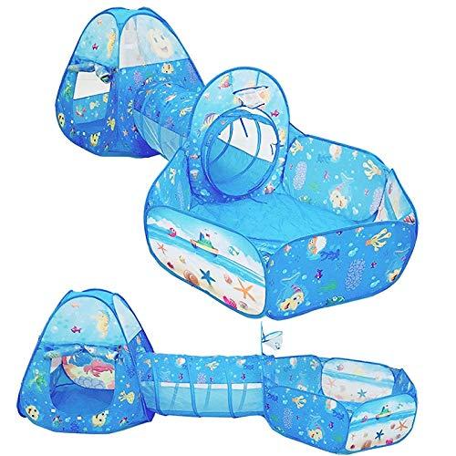 LCZMQRCLMZRQ casa Juguetes portátiles para niños bebé niños Tienda de túnel Plegable Bola de Juguete Piscina pozos Serie océano Juego de Dibujos Animados Juego de rastreo