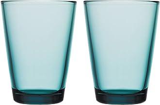 Iittala 1008596 Kartio uppsättning av 2 glas 40 cl, havsblå, glas