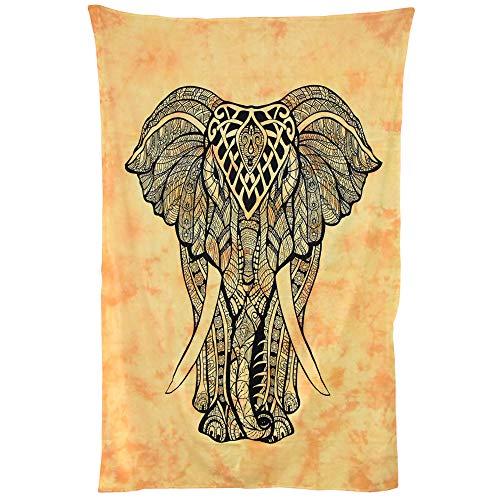 Baumwoll-Wanddeko, Boho-Motiv, Schlafzimmer-Dekoration, Mandala-Wandbehang für Hochzeit, Dekoration, indischer Psychedelischer Himmels-Stielteppich (mehrfarbig)
