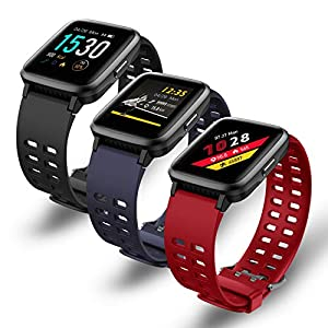 BingoFit Fitness Smart Watch, 1.3'' Touchscreen Activity Tracker with 14 Sports Mode Breathing Training Heart Rate Sleep Monitor Calorie Pedometer Waterproof Sport Smartwatches for Women Men KidsGifts