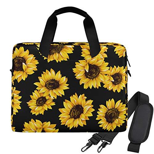 WIHVE Sunflowers Unisex Laptop Sleeve Messenger Shoulder Bag for 13-15 Inch Computer
