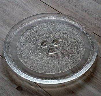 DIMSTAL 31,5 cm Universal Mikrowelle Ersatz Drehteller Glasteller Ersatzteil Microwelle Ersatzteller mit 31,5cm Durchmesser Teller Mikrowellenteller Microwellenteller
