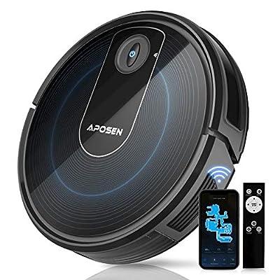 APOSEN Robot Vacuum, 1800Pa Powerful Suction, WiFi/App/Alexa Connectivity, Super-Thin, Self-Charging Robotic Vacuum Cleaner, Cleans Pet Hairs, Hard Floor, Carpet
