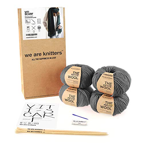 We Are Knitters, Viti Scarf, Grey