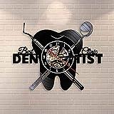 regali per uomini attrezzatura da dentista studio dentistico denti cartello da parete orologio decorativo ortodontista disco in vinile orologio da parete infermiera apprezzamento regalo accessori per