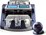 AccuBANKER AB1100PLUS UV Commercial Digital Bill Counter Hopper Capacity 200 Bills & Speed of 1,300 Bills/min Money Counter Machine Includes Reliable Counterfeit Detector Ultraviolet