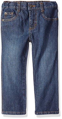 Wrangler Authentics Boys' Slim Straight Jean, Classic Blue, 3T
