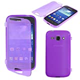 ebestStar - Compatible Coque Samsung Ace 3 Galaxy GT-S7270, S7272, S7275 Etui Housse Silicone Gel Portefeuille, Violet [Appareil:...