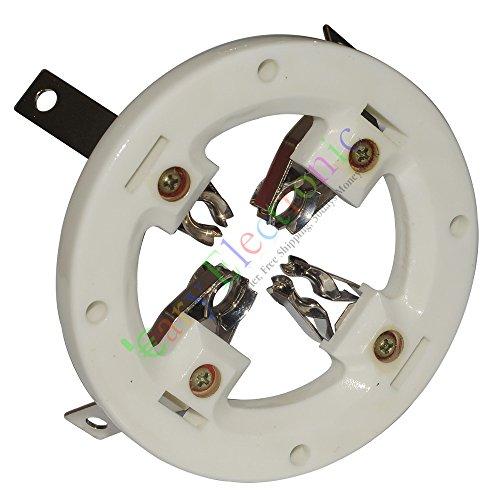 cayyi 1pc 4Pin cerámica tubo de vacío sockets Válvula para 70926t51Audio amplificador...