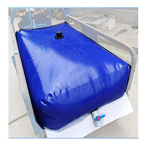 YJFENG Vejiga De Agua Plegable, Tanque De Agua Portátil Y Duradero, Contenedor De Agua De Gran Capacidad Resistente A La Sequía, para Riego Agrícola (Color : Blue, Size : 120L/0.5x0.6x0.4M)