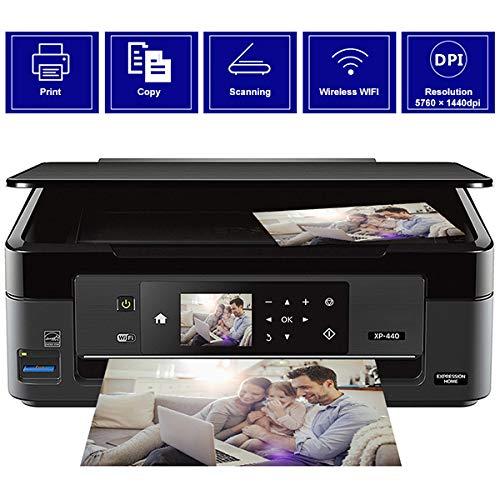 TANCEQI navulbare 3-in-1 inkjetstraal, multifunctionele printer (kopieerapparaat, scanner, printer, A4, USB/WiFi direct, duplex-functie), grote inkttank, groot bereik