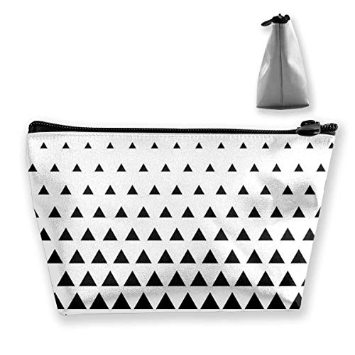 Bolsa cosmética portátil Triángulo Patrón Vector Fondo e