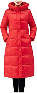 iHHAPY Women's Hooded Puffer Coat Winter Padding Jacket Oversize Long Quilted Jacket Warm Parka Down Jacket Outerwear