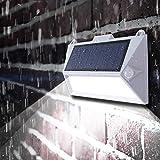 Wjfijz Nuevo Solar PIR Detección de Movimiento Luz de Porche Impermeable Auto al Aire Libre Valla de jardín Escaleras Lámpara de Pared Sensores duales Luces LED