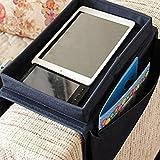 Organizador Yunqi ideal para colocar en el apoyabrazos del sofá, con portavasos,...