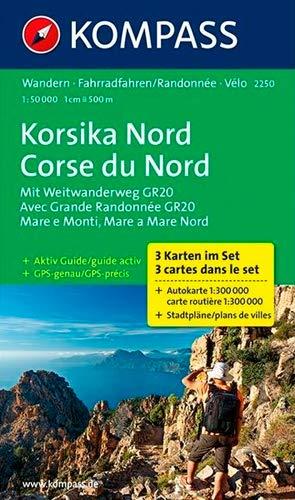 Korsika Nord - Corse du Nord - Weitwanderweg GR20: Wanderkarten-Set mit Aktiv Guide. GPS-genau. 1:50000 (KOMPASS-Wanderkarten, Band 2250)