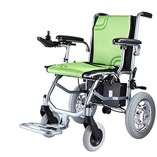 Leichter, Faltbarer Doppelfunktions-Elektrorollstuhl, Tischlange Arme und Anhebbare Beinstützen, Fahren Sie mit Kraft Oder Verwenden Sie Ihn Als Manuellen Rollstuhl. (Elektromotor), 1, TWL LTD-Wheel