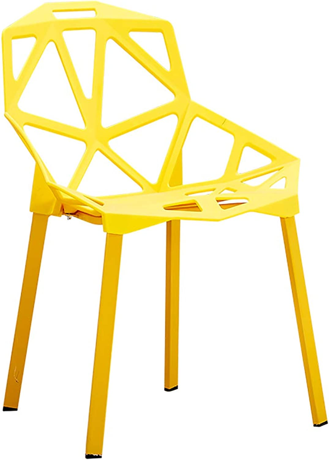 Geometric Hollow Chair Home Modern Minimalist Plastic Stool Chair Wind Adult Dining Chair (color   B)