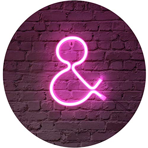 Rosa Neon brief lichtreclamen nachtlicht LED feesttent letters neon kunst decoratieve verlichting wanddecoratie voor kinderen baby kamer Kerstmis bruiloft party decoratie (A)