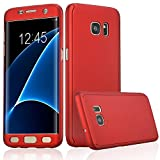 Xelcoy® 360 Degree Full Body Protection Front & Back Slim Hybrid Case Cover with Tempered Glass Screen Protector for Samsung Galaxy S6 - Red quality galaxy s6 protective cases Jan, 2021