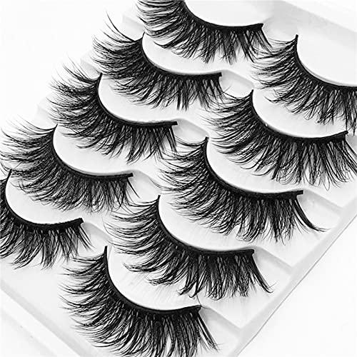 Faux cils RUI 5 Paires De Artificiels sont Faits à La Main, épais Et Moelleux, Apparence Naturelle, Outil De Maquillage à Effet en Couches 3D Combiné