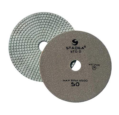Stadea PPW251B Diamond Polishing Pad 7 Inch Grit 50 For Marble Concrete Stones Terrazzo Granite Floor Polishing