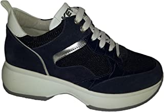 Keys Scarpe Donna Sneakers in Tessuto e camoscio Blu 901-BLEU