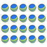 HINK - Juego de 20 pelotas de golf con diseño de rayas de arcoíris, Mujer, azul, L