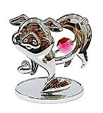 Crystocraft Cochon décoratif en cristal Swarovski Elements dans une boîte cadeau pour les amateurs de cochon fabriqué avec une figurine de cochon en cristal rouge