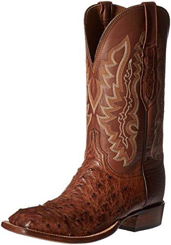 Lucchese Classics Men's Garrett-bwd Pin/tn Burn Ranch Riding Boot, Barn Wood, 8.5 D US
