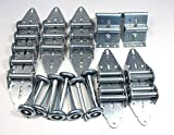 7x16 steel garage door - Garage Door Hinge/Roller Tune up Kit 16X7 or 18X7 - Super Duty 11 Gauge Hinges